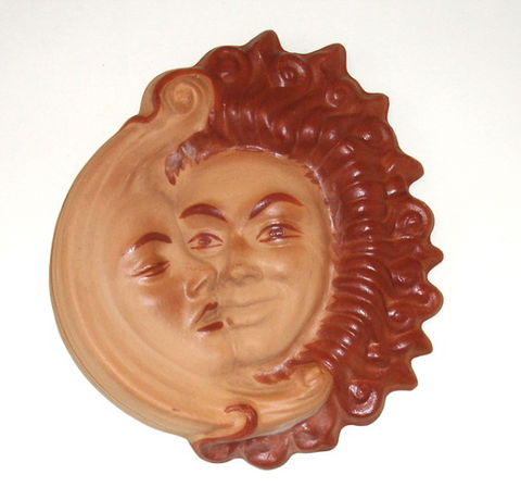 "Sun & Moon, Curly Rays Sunface, 14"" Two-tone"