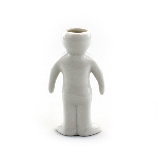 """Woman"" Air Head White Ceramic Pot"