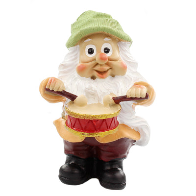 Fairy Garden Gnome - Gnome Playing Drums