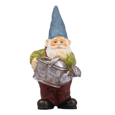 Fairy garden miniature gnome with watering can
