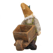 Fairy garden miniature wheelbarrow gnome rear view