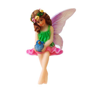 Sitting Fairy Singing To Blue Bird - Jillian