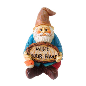 "Fairy Garden ""Wipe Your Paws"" Gnome"