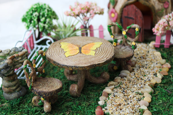 Butterfly Table and Two Chairs