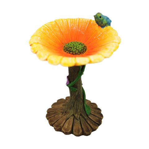 Fairy Garden Miniature Flower Birdbath