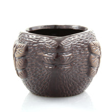 Brown Ceramic Bird Planter Pot