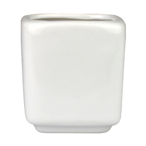 Squared White Ceramic Planter Pot, 2.75""