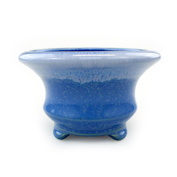 Light Blue Ceramic Ocean Waves Planter Pot