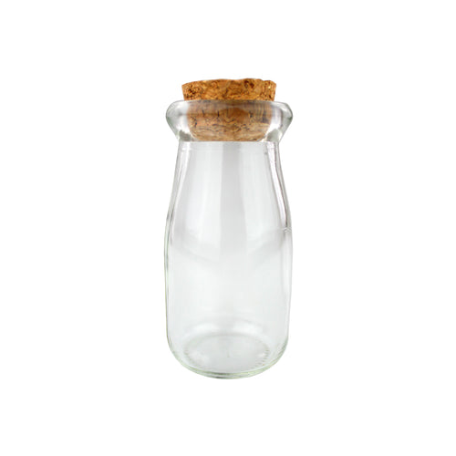 Glass Bottle With Cork Lid Terrarium