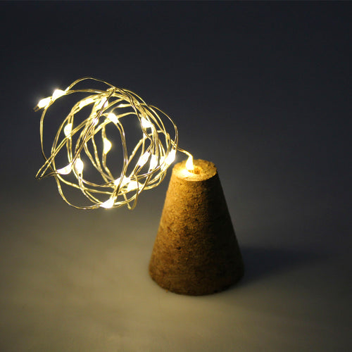 LED String Lights 40 in With Real Cork