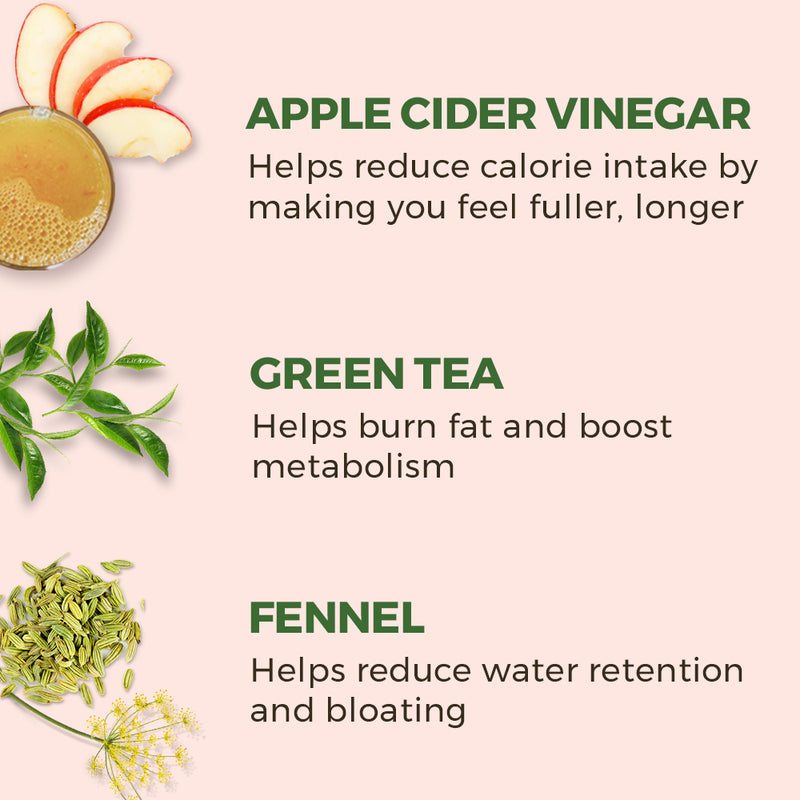 Green Tea Apple Cider Vinegar Fennel Metabolism Booster Shots - 30 shots | 30 days