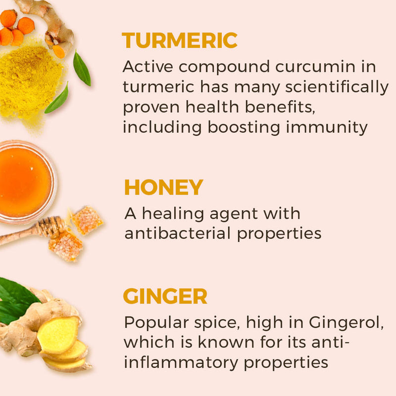 Turmeric Honey Ginger Immunity Booster Shots - 30 Shots | 30 Days