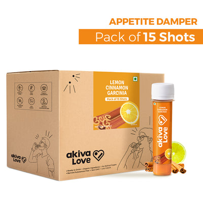 Lemon Cinnamon Garcinia Appetite Damper Shots - Pack of 15