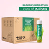 Wheatgrass Lemon Coriander Blood Purification Shots - Pack of 15