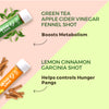Weight Management Pack - 60 Shots | 30 Days | Green Tea Apple Cider Vinegar Fennel + Lemon Cinnamon Garcinia
