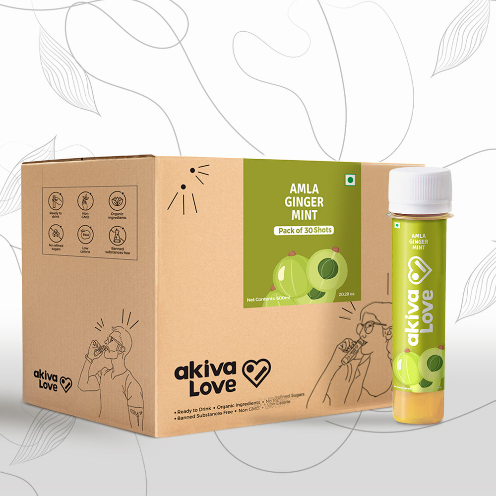 Amla Vitamin C Shots with Amla, Ginger & Mint | Pack of 30 | 30 days