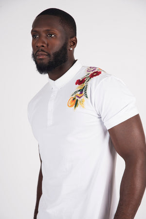 Rose Patch Polo