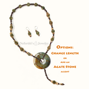 Lariat Necklace: Red Sand Dunes