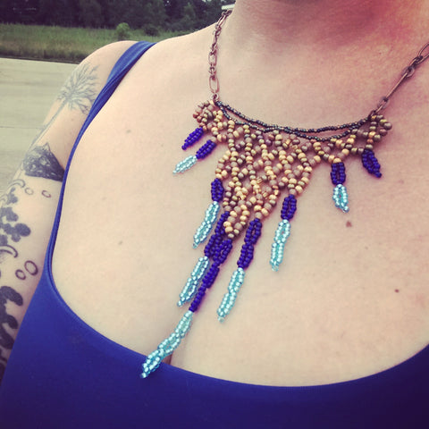 Bib Necklace: Blue Angels