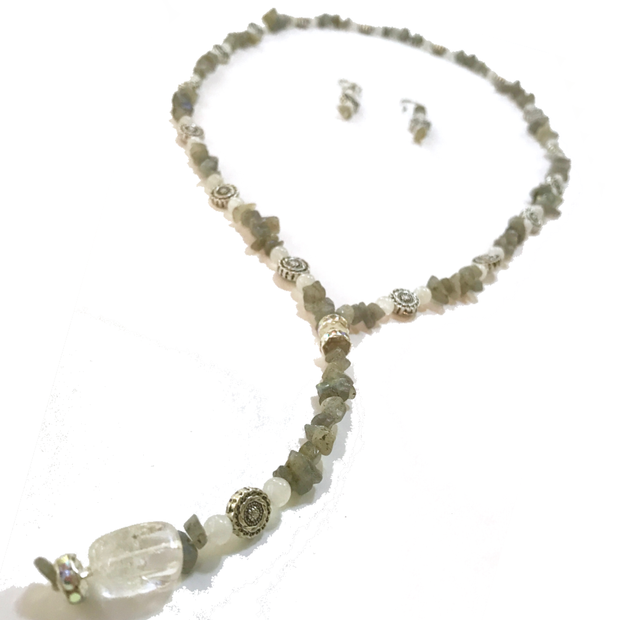 Lariat Necklace: Morning Fog