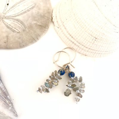 Luna Earrings: Labradorite