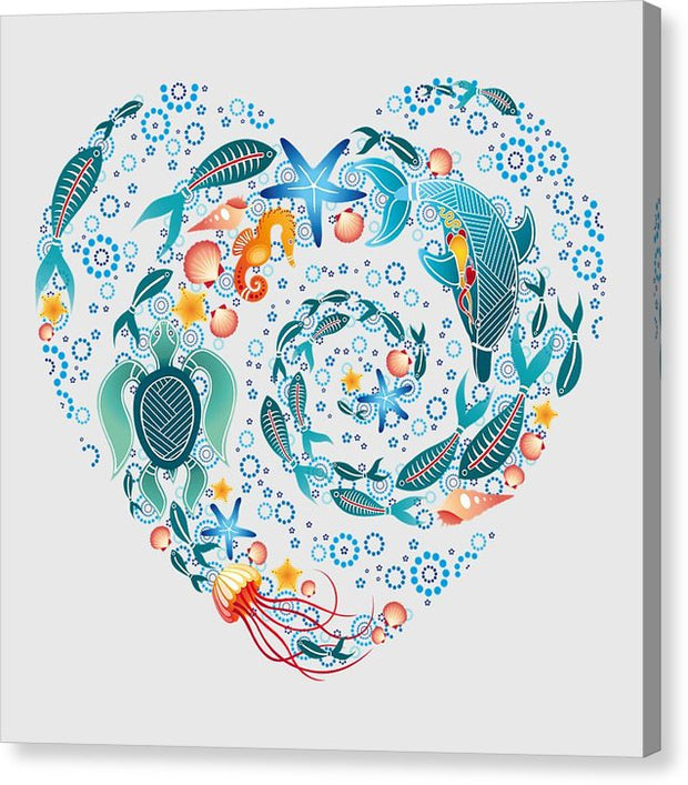 Coral Reef Love - Canvas Print