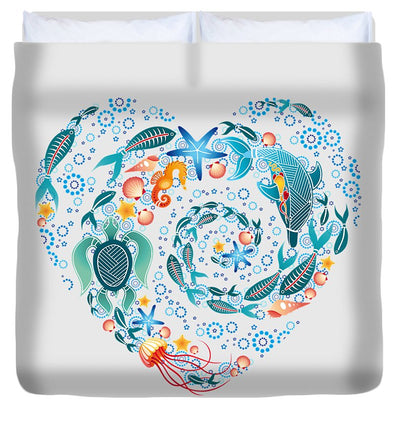 Coral Reef Love - Duvet Cover