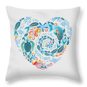 Coral Reef Love - Throw Pillow