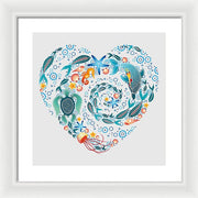 Coral Reef Love - Framed Print