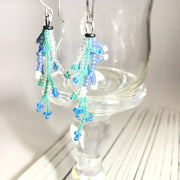 Coral Earrings: Metallic Blue