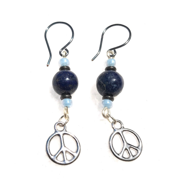 Peace Earrings: Silver