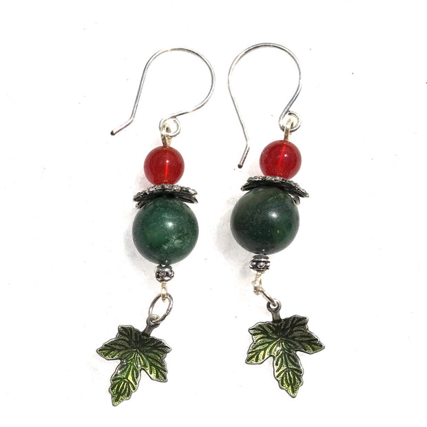 Red Carnelian BeLeaf Gemstone Earrings
