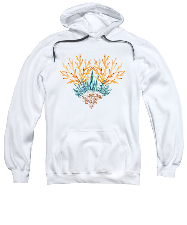 Orange Coral Heart - Sweatshirt