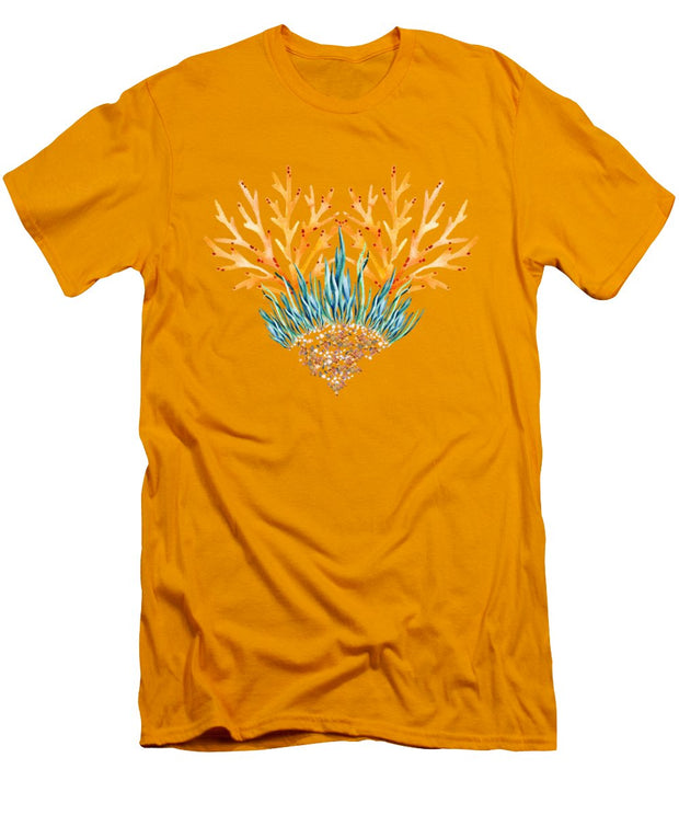 Orange Coral Heart - Men's T-Shirt (Athletic Fit)