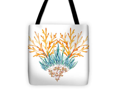 Orange Coral Heart - Tote Bag