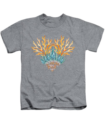 Orange Coral Heart - Kids T-Shirt