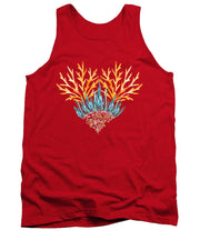Orange Coral Heart - Tank Top