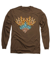 Orange Coral Heart - Long Sleeve T-Shirt