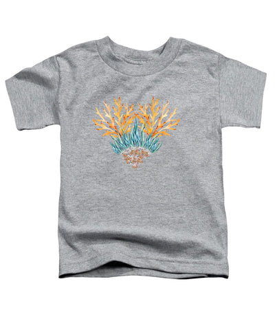 Orange Coral Heart - Toddler T-Shirt
