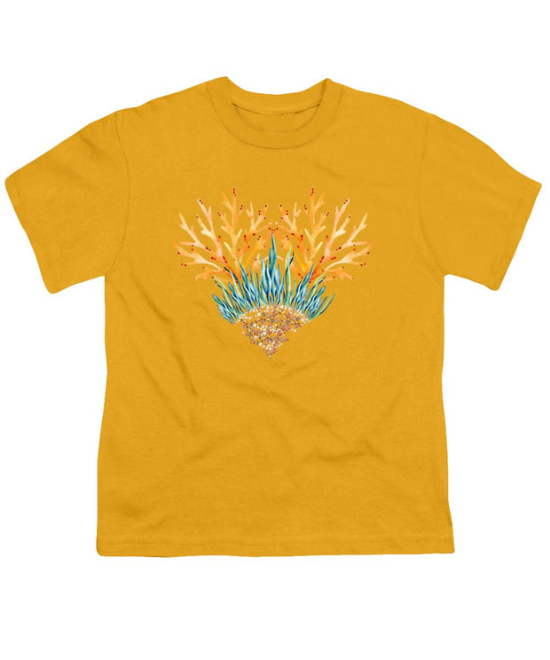 Orange Coral Heart - Youth T-Shirt