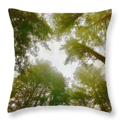 Redwood Fog - Throw Pillow