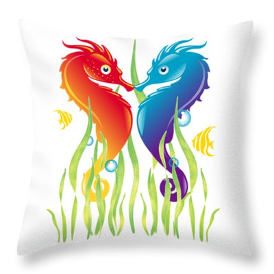 Seahorse Love - Throw Pillow