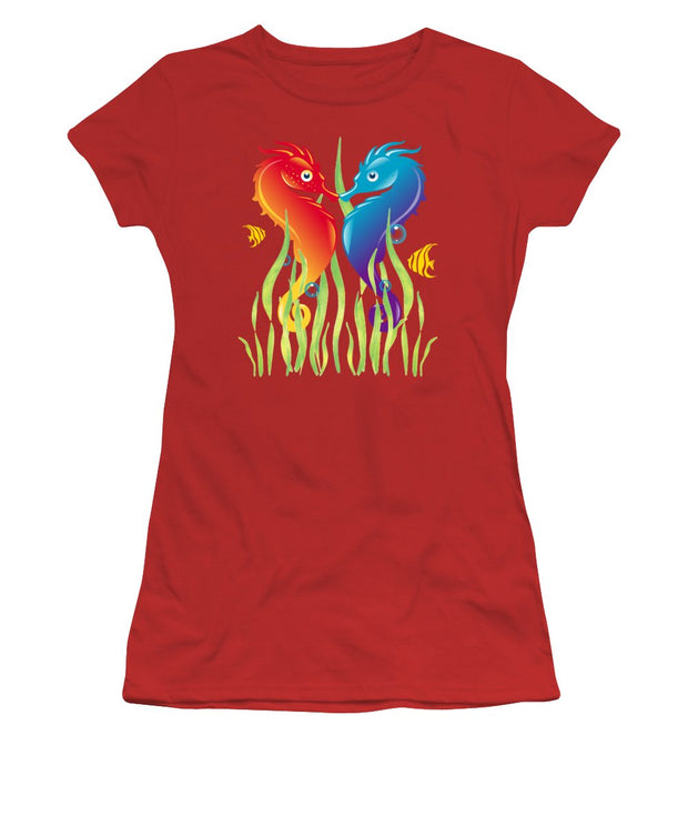 Seahorse Love - Women's T-Shirt (Athletic Fit)
