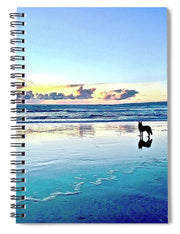 Teal Contemplation - Spiral Notebook
