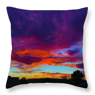 Rainbow Sunset - Throw Pillow