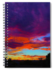 Rainbow Sunset - Spiral Notebook