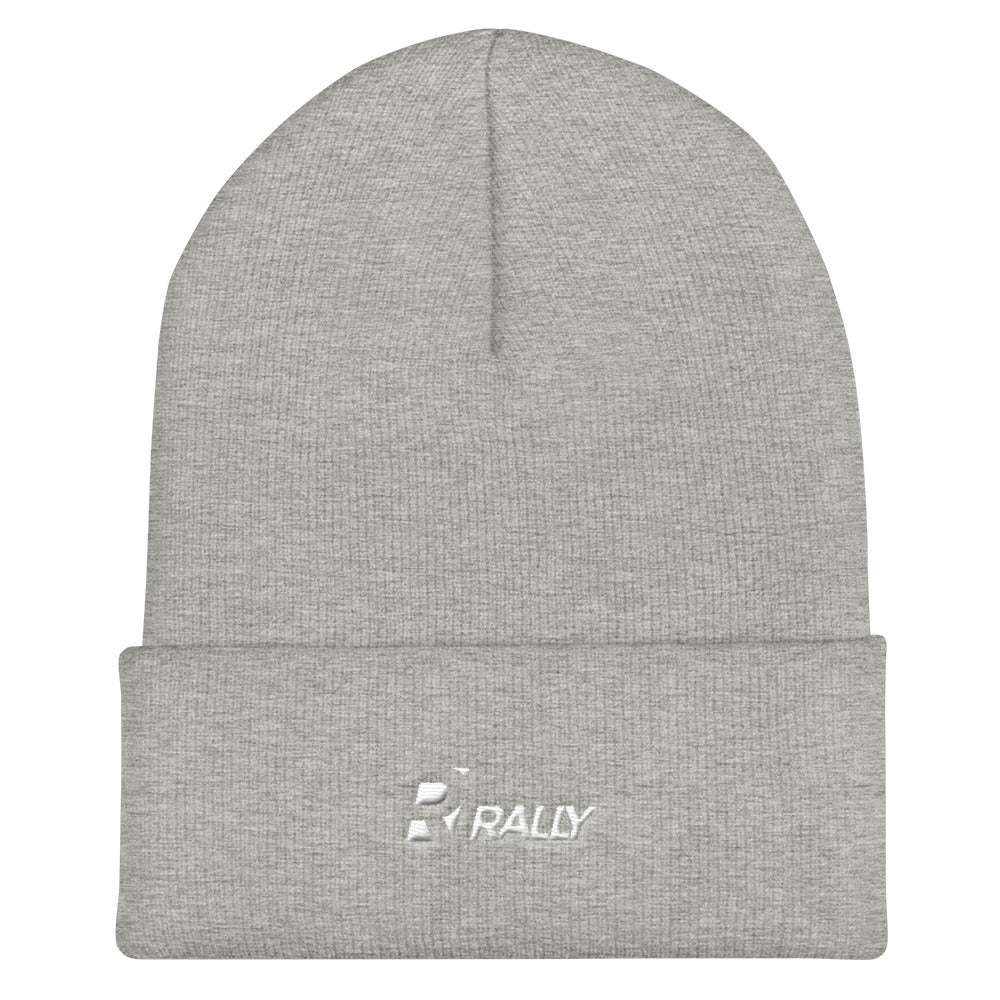 RALLY Cuffed Beanie Grey
