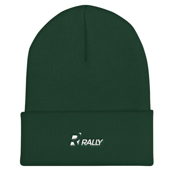 RALLY Cuffed Beanie Green