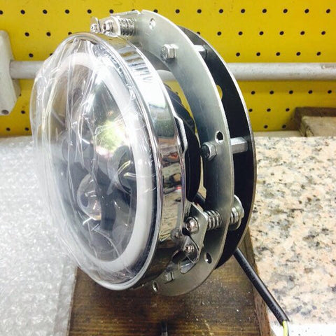 "Direct bolt in 7"" LED headlight with custom bucket"