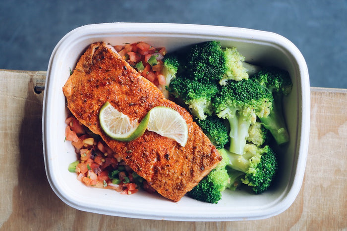 Cajun Salmon (Wednesday) - Keto Meals - Honey Bee Meals | Healthy Prepared Meals & Food Delivery Toronto